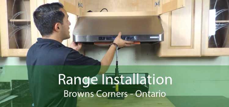 Range Installation Browns Corners - Ontario